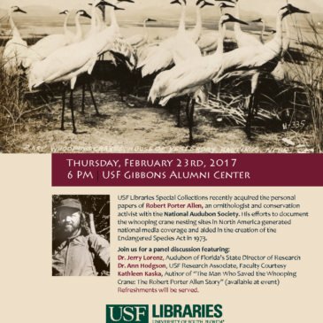 If you're near Tampa, Florida on February 23, stop by University of South Florida